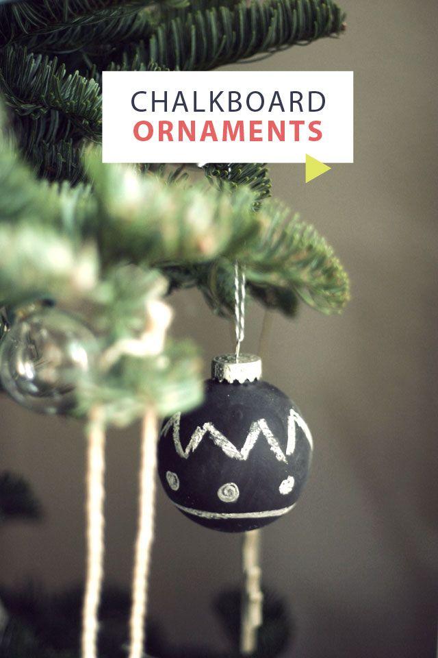 hello lately: MAKE IT // Chalkboard Ornaments