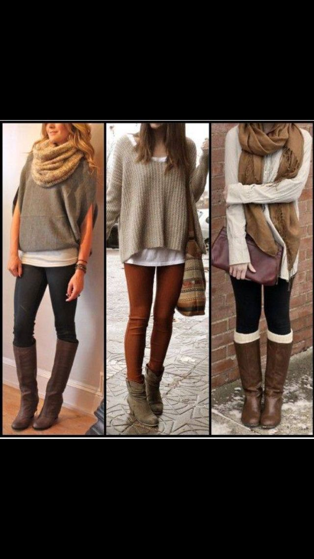 Oversized sweater and leggings. | My Style | Pinterest