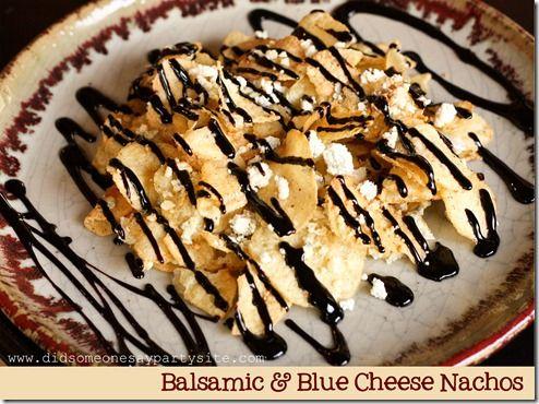 Balsamic Blue Cheese Nachos :D