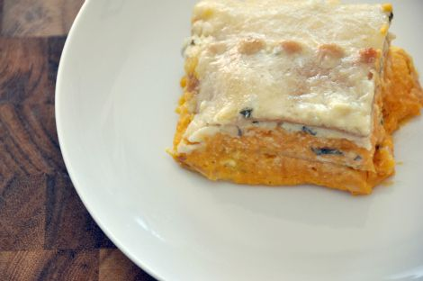 Butternut-goat cheese lasagna. Is it bad I'm already looking forward ...