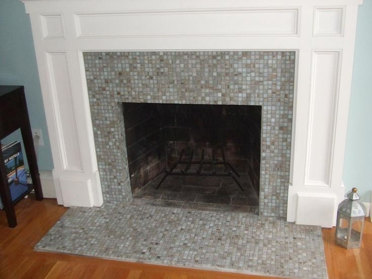 Tile In Front Of Our Stone Fireplace Looking For Ideas The Tile