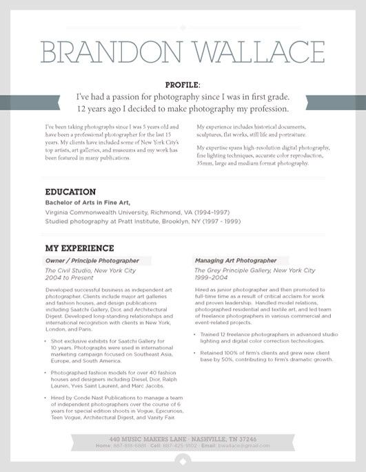 Resume Template   Urban Shadow Grey – Loft Resumes