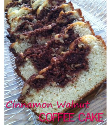 Cinnamon Walnut Coffee Cake Recipe by Julie Vision in the Kitchen