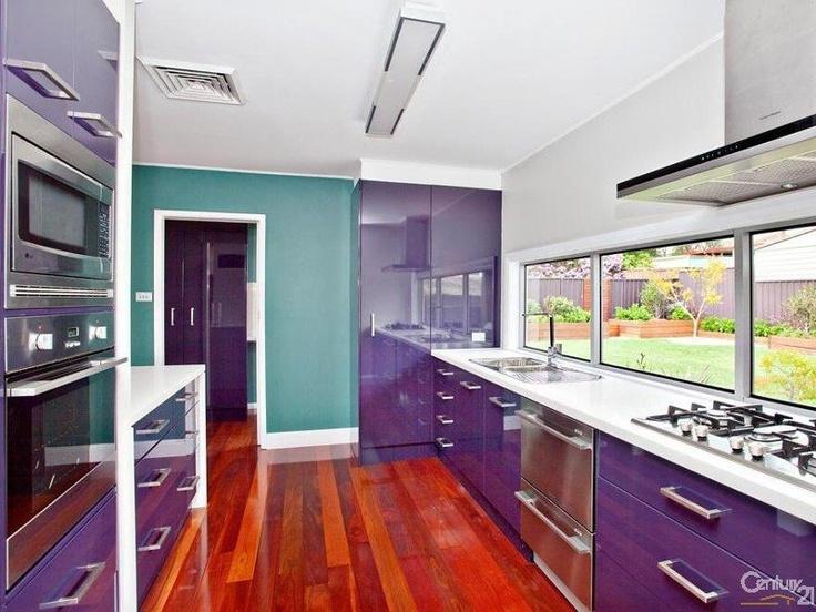 Purple Kitchen With Teal I Need A Purple Kitchen Pinterest