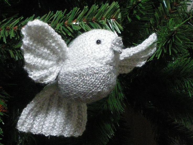 knitted bird tree ornament Knitting Amigurumi Pinterest