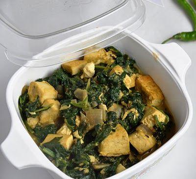 Tofu Palak (Tofu and Sauteed Spinach) | Honey, What's Cooking?