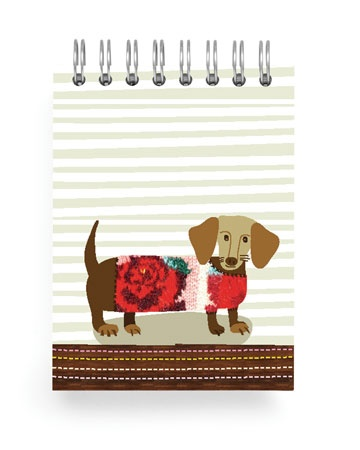 {sweater Dachshund} mini notebook by ecojot