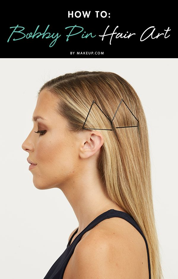 Under any other circumstance, we'd be saying 'no thanks' to geometry. There's an exception to this rule — hair art! Bump up a simple hair day by creating shapes using the pins.