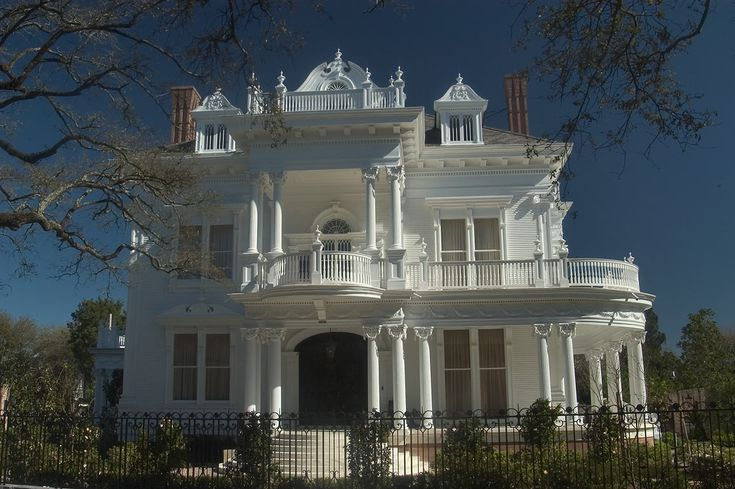 Wedding Cake House mansion near Nashville Avenue, New Orleans, Louisiana. Built in 1896 in Victorian Georgian revival style.