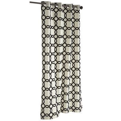 Geometric grommet top curtain black for the home pinterest