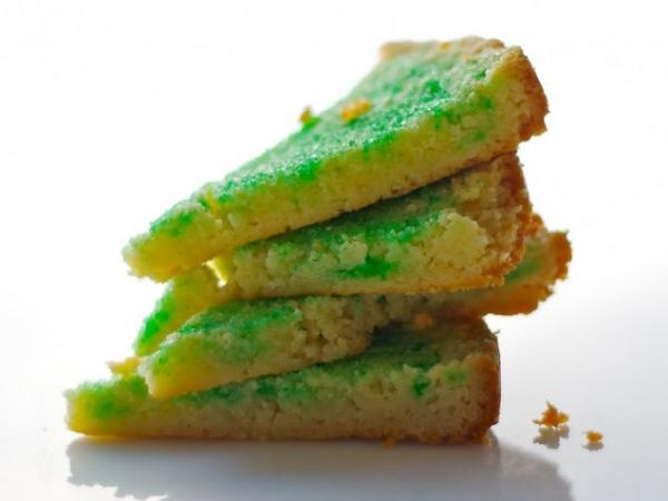Green Sugar Shortbread | Family Recipes | Pinterest