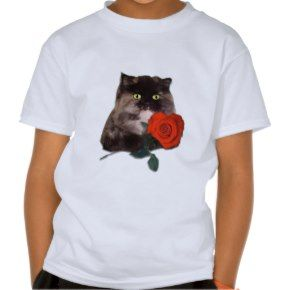 Cally with Red Heart Shaped Rose Persian Tshirt - Click to see more