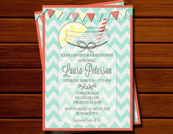 mason jar baby shower invitation chevron modern by serendipitydsn 13
