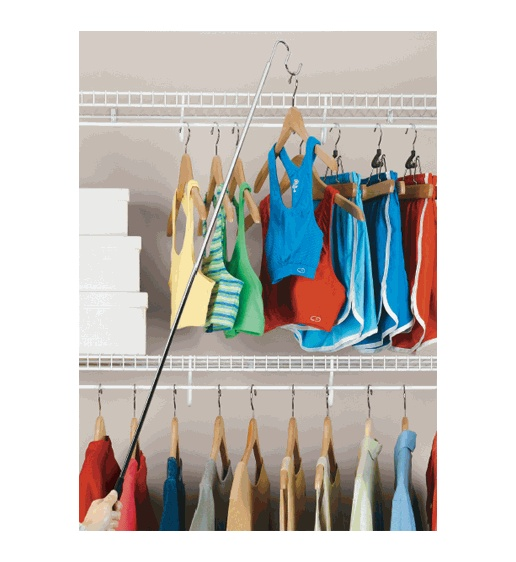 "Extend your reach with the oh so properly named ""Easy Reach Closet Hook"" #organize"