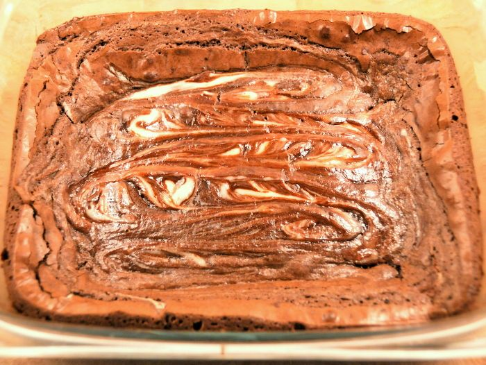 Goat Cheese Swirled Brownies | Get in my belly | Pinterest