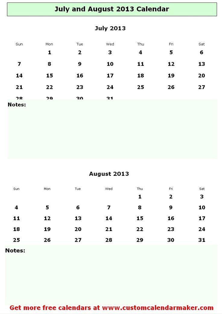 July 2013 Calendar Template Datariouruguay
