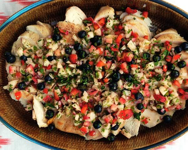 Blueberry, Strawberry, and Jicama Salsa | Recipe