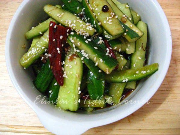 Elinluv's Tidbits Corner: Hot Spicy Sichuan Style Cucumber Salad