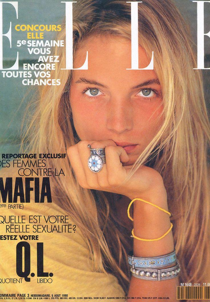 French ELLE, 1990. Model: Rachel Williams.