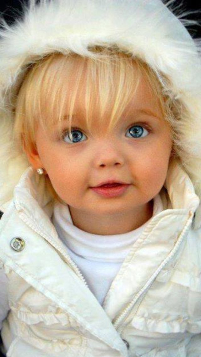 Cute blue eyed blonde hair baby | Piercing Eyes | Pinterest