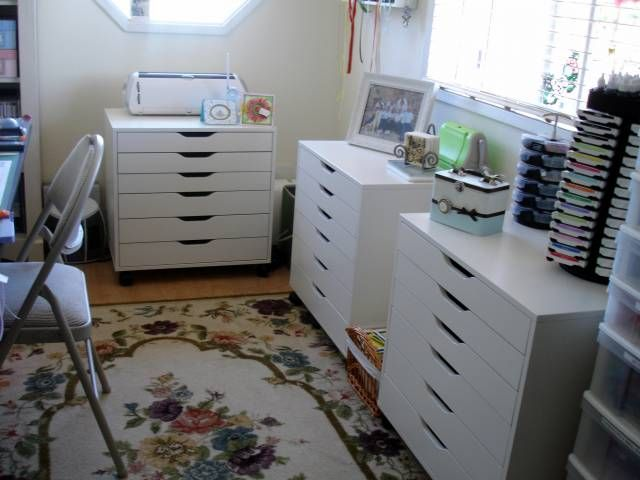 Ikea alex cabinet for craft room my perfect home pinterest for Craft cabinet ikea