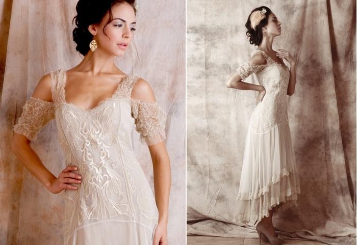 Nataya venetian gown bohemian wedding pinterest for Vintage second wedding dresses