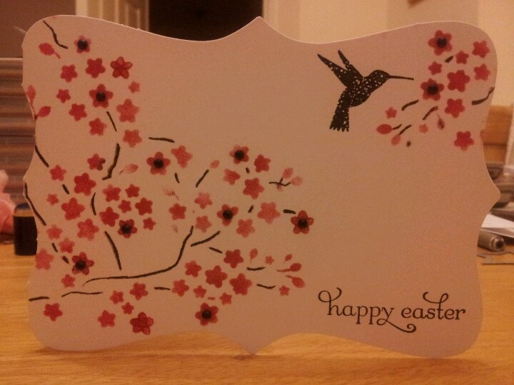 SU Easter card | My stampin up cards | Pinterest