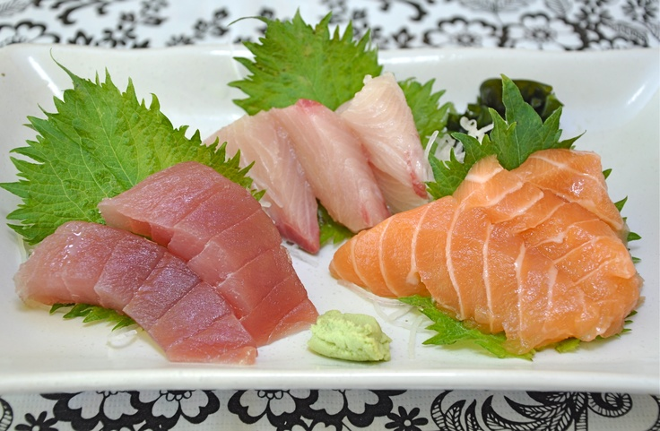Raw fish feast sushi love pinterest for Is sushi raw fish