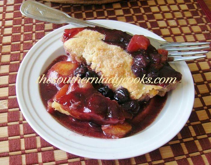 roasted peach cobbler sweet cherry black plum and yellow peach cobbler ...