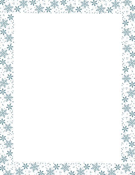 Clip Art Borders And Frames as well Snowflake Border Writing Paper ...
