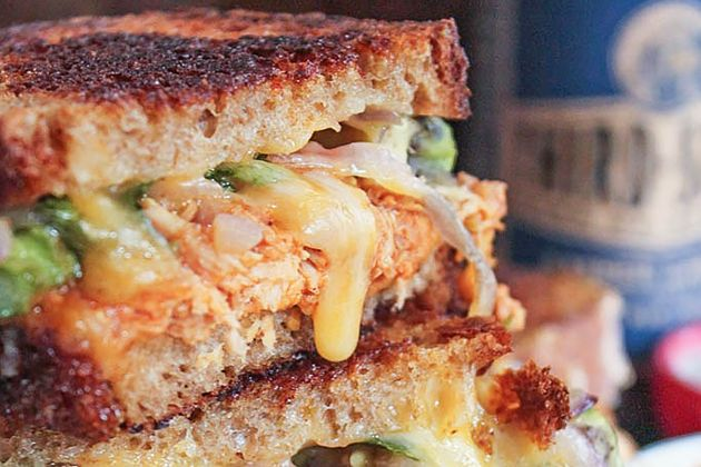 Barbecue Chicken Grilled Cheese- Made this...delish!