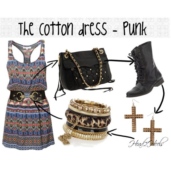"""The Cotton dress - Punk"" by head2heels on Polyvore"