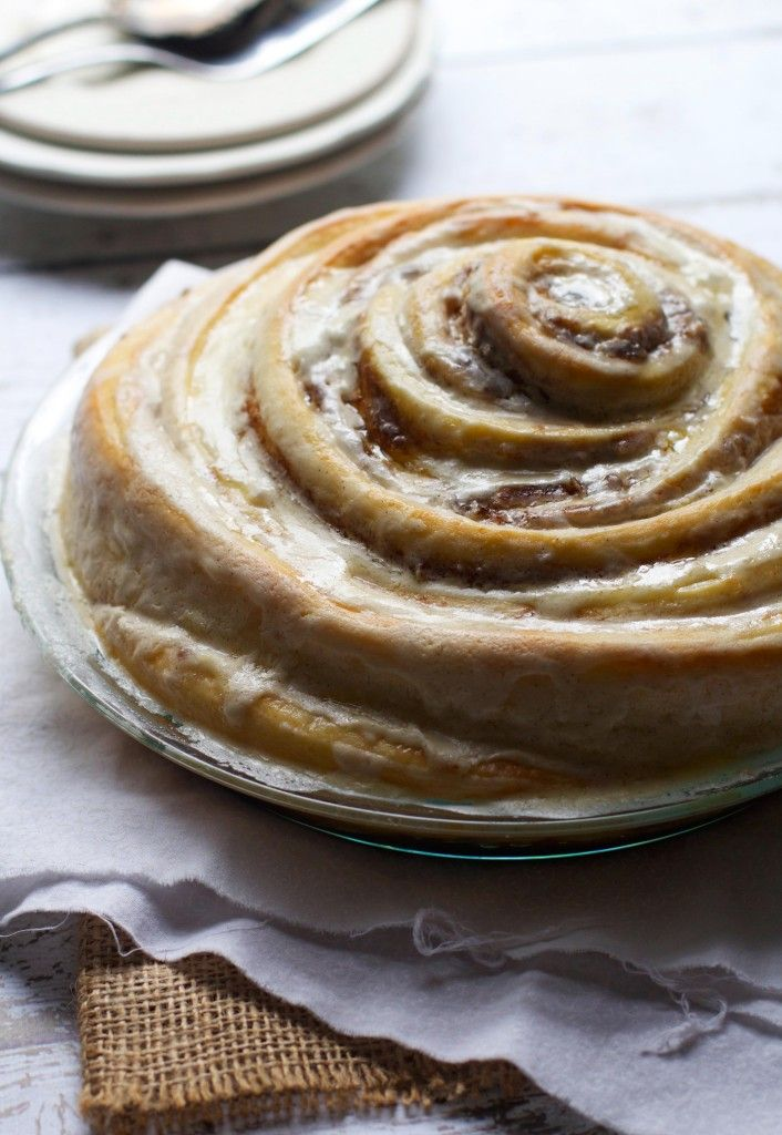 Gooey Cinnamon Roll Cake via The Baker Chick