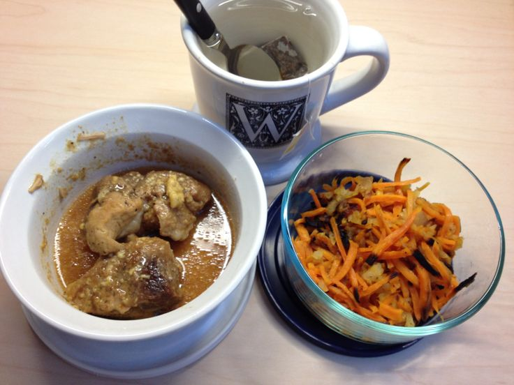 ... pork-shoulder/) with roasted sweet potato & apple and a cup of black