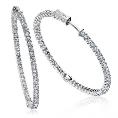 Love these 1 Carat Diamond Hoop Earrings from Jewellery Reserve! | #Jewellery