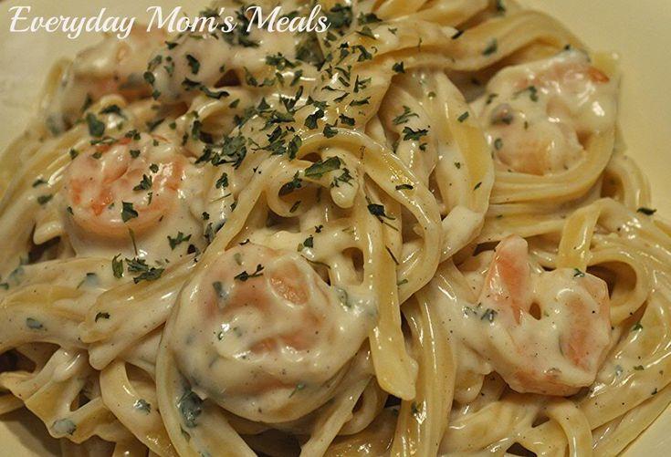 Easy Shrimp Fettuccine Alfredo | mmm mmm good...! | Pinterest