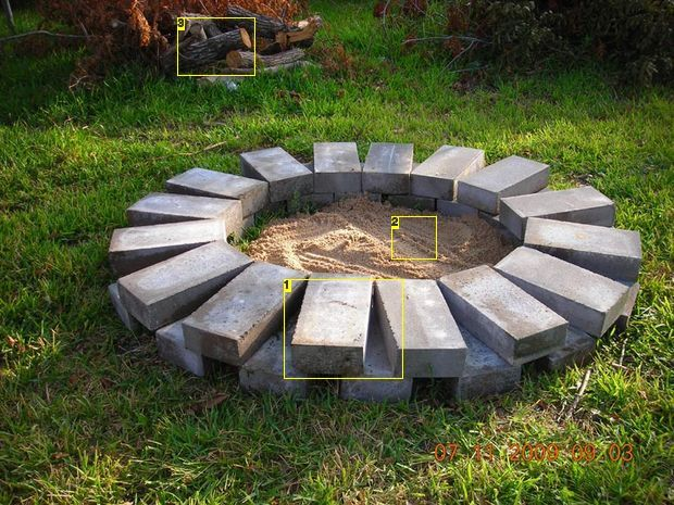 Build a fire ring or pit for How to build a fire pit with concrete blocks