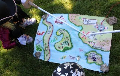 DIY Cloth Pirate Maps #diy #pirate