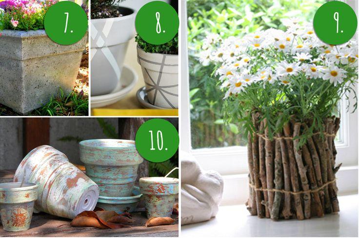 10 diy flower pot painting ideas outdoor spaces pinterest
