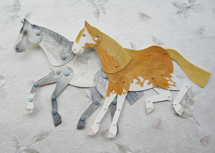 Kid's Horse Craft using card and paper fasteners so it can ...
