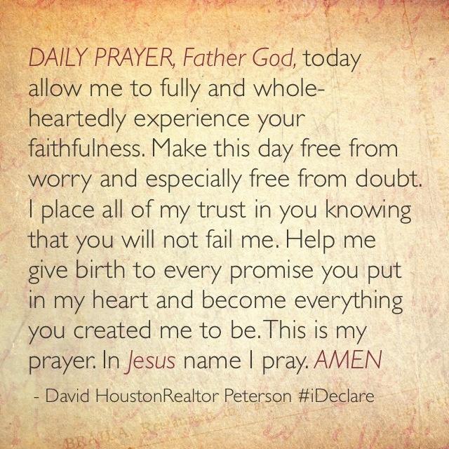Daily Prayer | In Jesus' name I pray.... | Pinterest