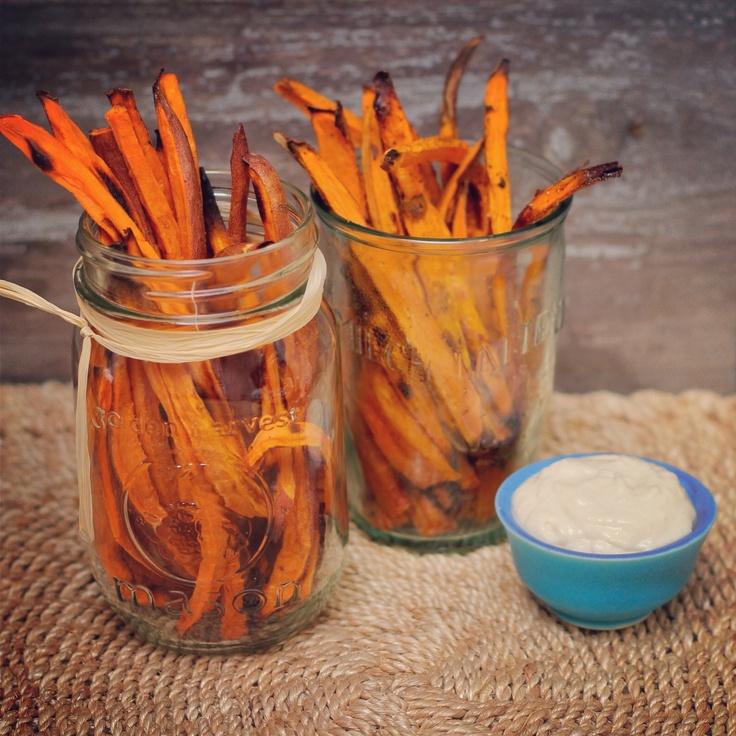 baked sweet potato fries + vegan horseradish aioli | paleo + gluten ...