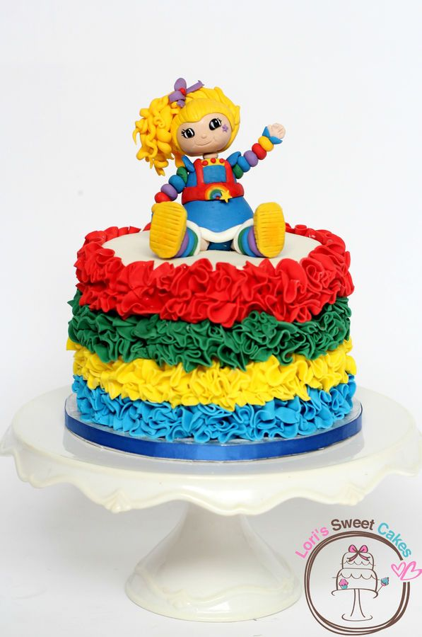 Rainbow Brite Cake Pops