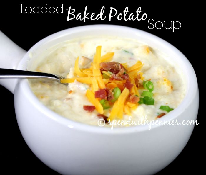 This LOADED BAKED POTATO SOUP is delicious and topped with all of my ...