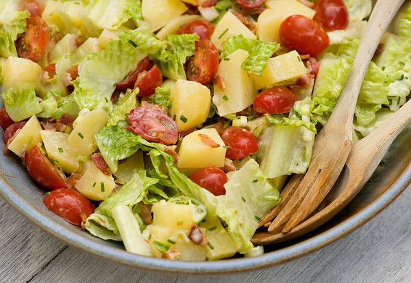 Bacon Lettuce and Tomato Potato Salad ...you CAN make a BLT out of ...