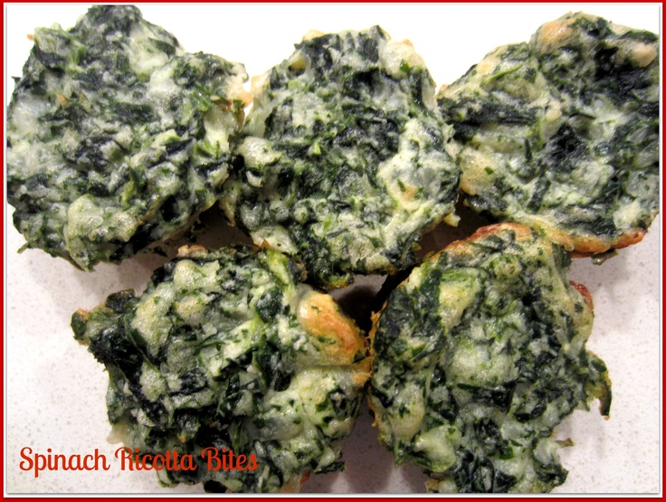 Spinach Ricotta Bites - great for toddlers