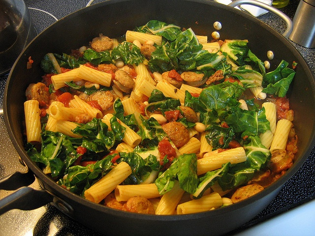 Rotini with Swiss Chard and Sausage | Yummehs | Pinterest