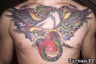 Fotos de Tatuagens: Aguia Cobra no Peito