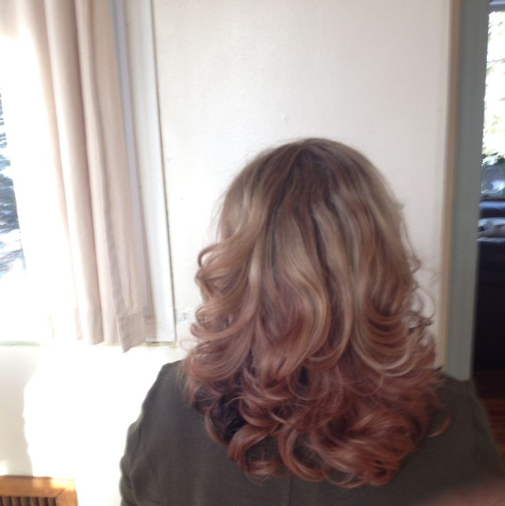 Reverse Ombre Brown Blonde Hair