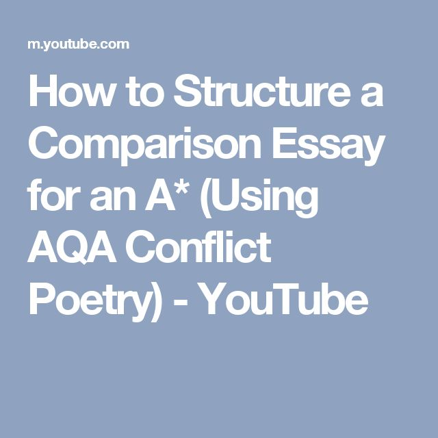 Poetry comparison essay structure